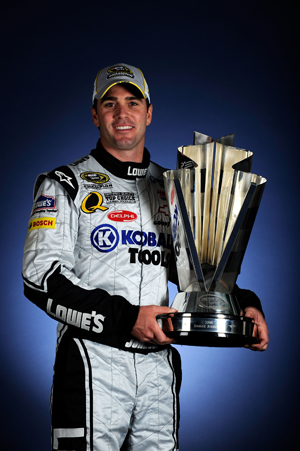 2008 NSCS Jimmie Johnson champion photo 2008 trophy thumb