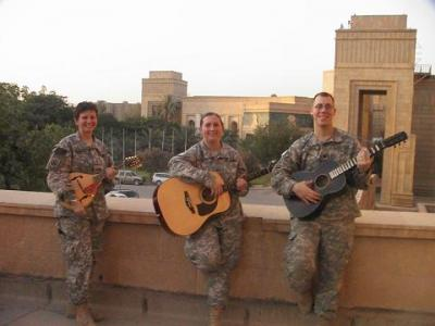 Sgt with guitar spc with dobro at palace
